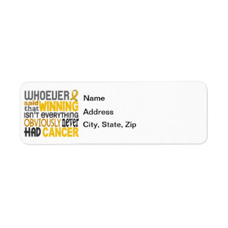 Whoever Said Childhood Cancer Label