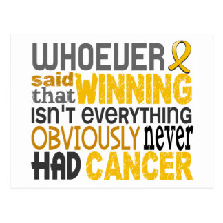 Whoever Said Childhood Cancer Postcard
