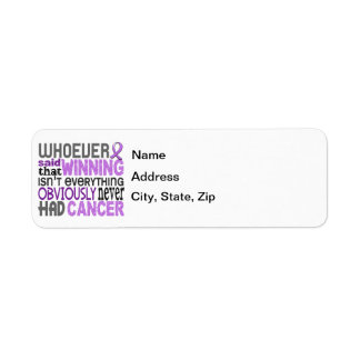 Whoever Said General Cancer Label
