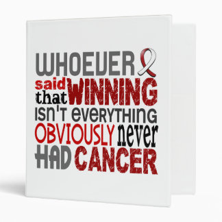 Whoever Said Head And Neck Cancer Binder