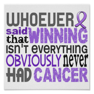 Whoever Said Hodgkin's Lymphoma Poster