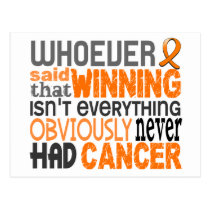 Whoever Said Kidney Cancer Postcard