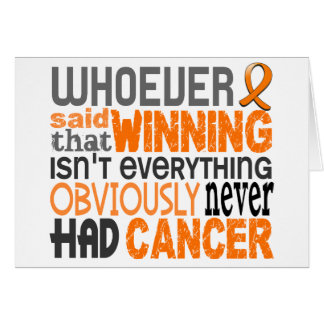 Whoever Said Leukemia Greeting Card