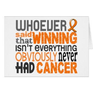 Whoever Said Leukemia Stationery Note Card