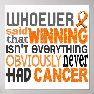 Whoever Said Leukemia Poster