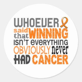 Whoever Said Leukemia Classic Round Sticker