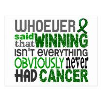 Whoever Said Liver Cancer Postcard