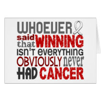 Whoever Said Lung Cancer