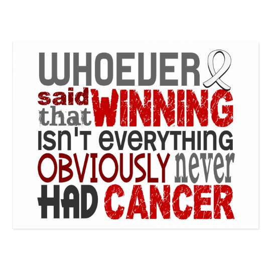Whoever Said Lung Cancer Postcard