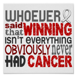 Whoever Said Lung Cancer Posters