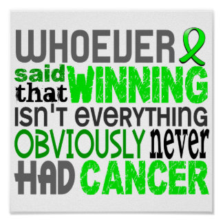 Whoever Said Non-Hodgkin's Lymphoma Poster
