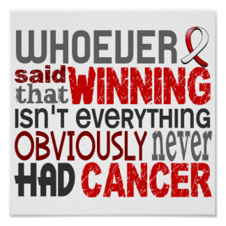 Whoever Said Oral Cancer Poster