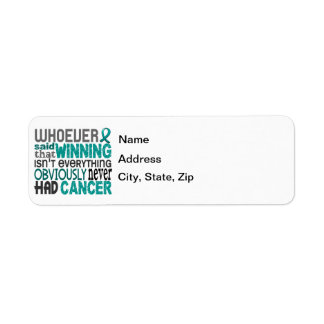 Whoever Said Ovarian Cancer Label