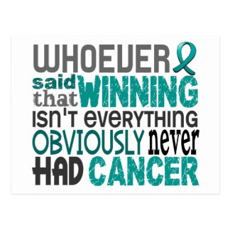 Whoever Said Ovarian Cancer Postcard