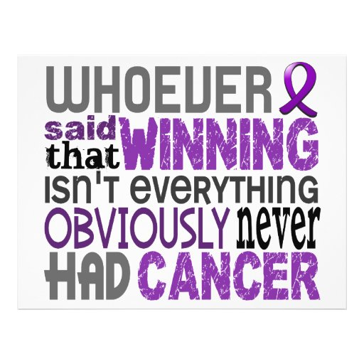 Whoever Said Pancreatic Cancer Flyers