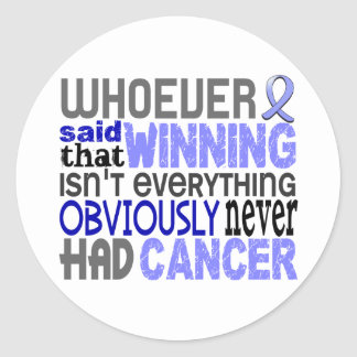 Whoever Said Prostate Cancer Classic Round Sticker