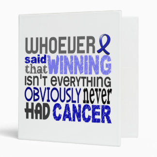 Whoever Said Rectal Cancer 3 Ring Binder
