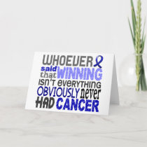Whoever Said Rectal Cancer Card