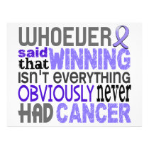 Whoever Said Stomach Cancer Flyer