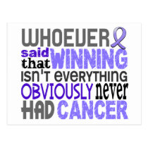 Whoever Said Stomach Cancer Postcard