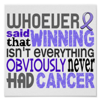 Whoever Said Stomach Cancer Print