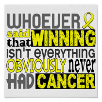 Whoever Said Testicular Cancer Poster