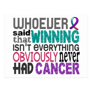Whoever Said Thyroid Cancer Postcard
