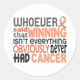 Whoever Said Uterine Cancer Classic Round Sticker
