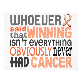 Whoever Said Uterine Cancer Flyer