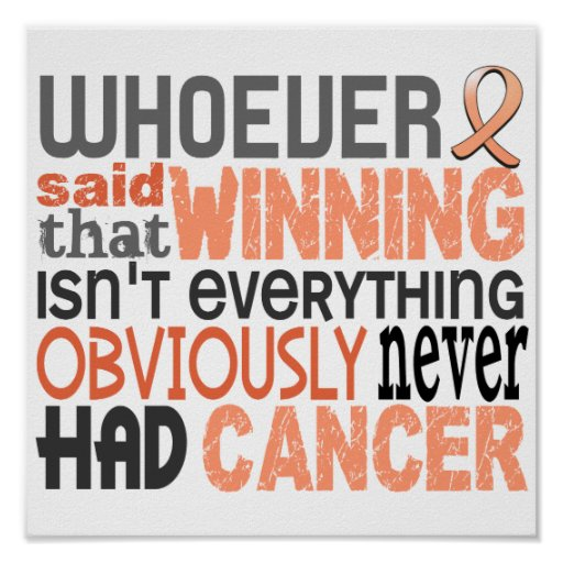 Whoever Said Uterine Cancer Poster