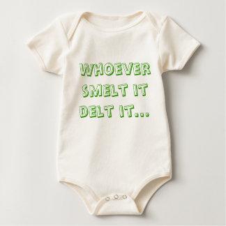 Whoever smelt it delt it... baby bodysuit