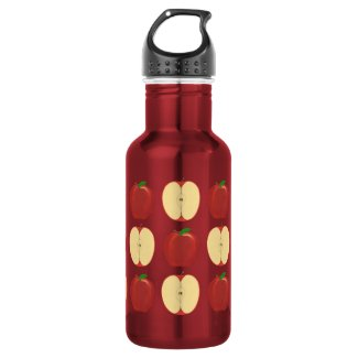 Whole and Sliced Apples Water Bottles 18oz Water Bottle