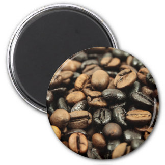 Whole Bean Coffee 2 Inch Round Magnet
