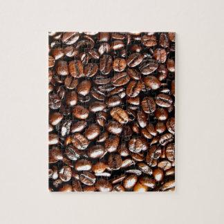 Whole Bean Coffee Pattern Jigsaw Puzzle