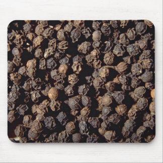 Whole black pepper corns mouse pad