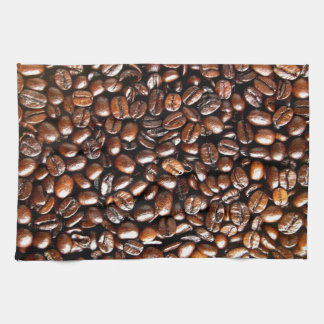 Whole Coffee Beans Pattern Hand Towel