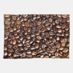 Whole Coffee Beans Pattern Kitchen Towels