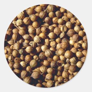Whole coriander seeds sticker