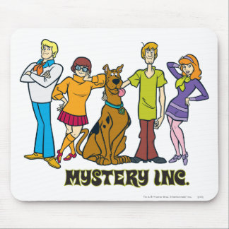Whole Gang 12 Mystery Inc Mouse Pad