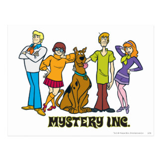 Whole Gang 12 Mystery Inc Postcards