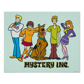 Whole Gang 12 Mystery Inc Poster