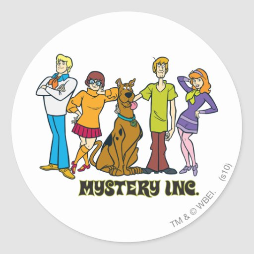 Whole Gang 12 Mystery Inc Stickers