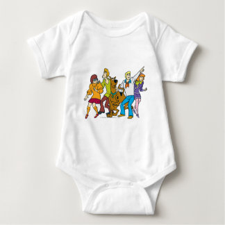 Whole Gang 13 Mystery Inc Baby Bodysuit