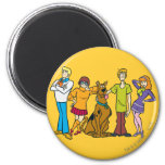 Whole Gang 14 Mystery Inc 2 Inch Round Magnet