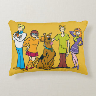 Whole Gang 14 Mystery Inc Accent Pillow