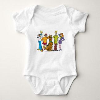 Whole Gang 14 Mystery Inc Baby Bodysuit