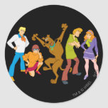 Whole Gang 16 Mystery Inc Classic Round Sticker
