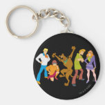 Whole Gang 16 Mystery Inc Basic Round Button Keychain