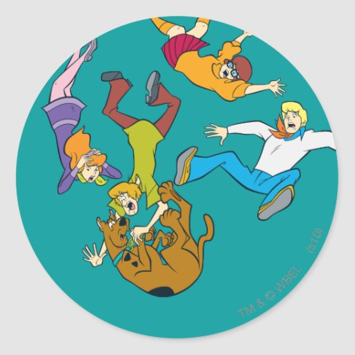Whole Gang 17 Mystery Inc Round Stickers