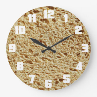 Whole Grain Bread Large Clock